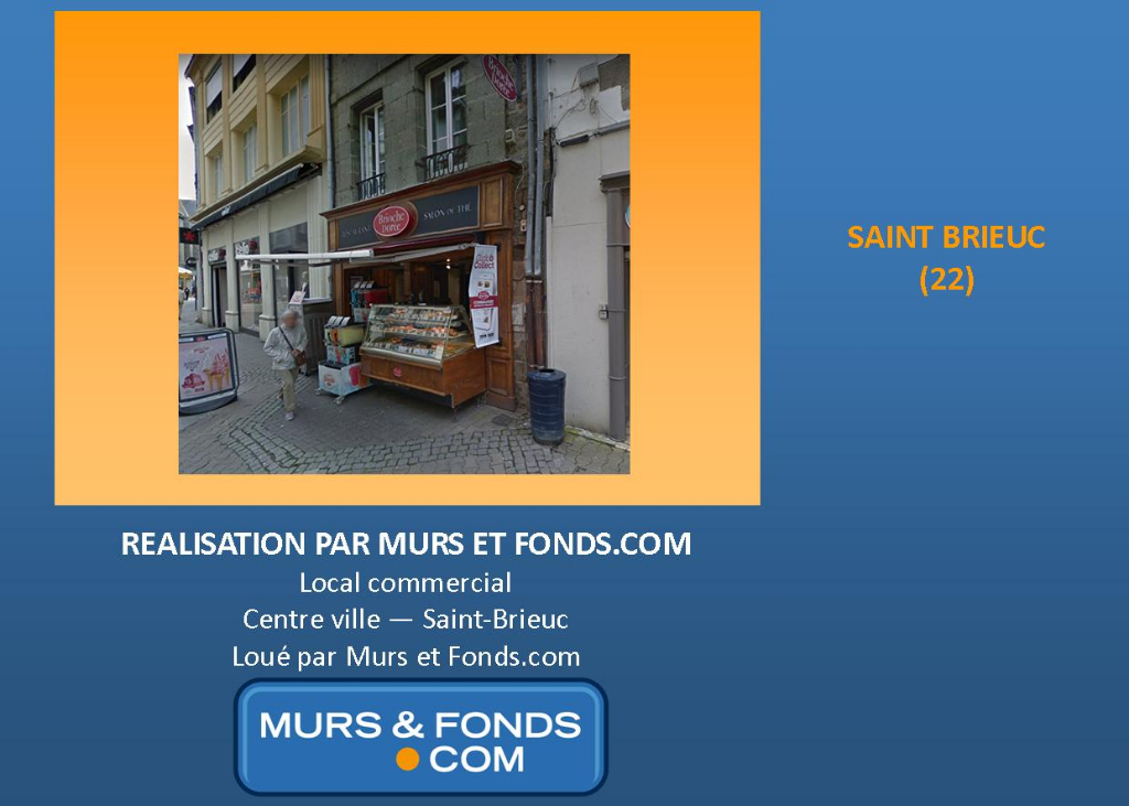 LOCAL COMMERCIAL LOUE A SAINT BRIEUC