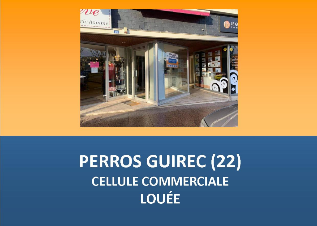 PERROS GUIREC - LOCAL COMMERCIAL 50 m² - EMPLACEMENT N°1